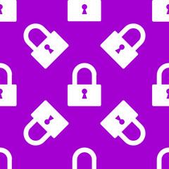 padlock web icon. flat design. Seamless pattern.