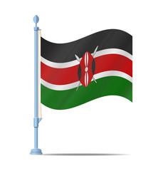 Kenya flag vector