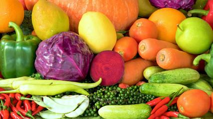 Fruits and vegetables organics