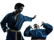karate vietvodao martial arts man woman couple silhouette