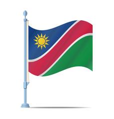 Namibia flag vector