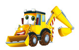 Cartoon excavator - illustration for the children