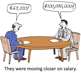 """They were moving closer on salary."""