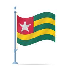 Togo flag vector
