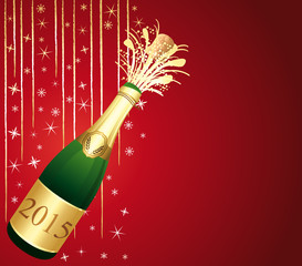 Red and gold festive Champaign Background.