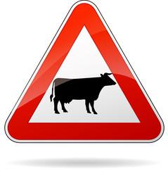cows warning sign