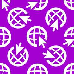 globe web icon. flat design. Seamless pattern.