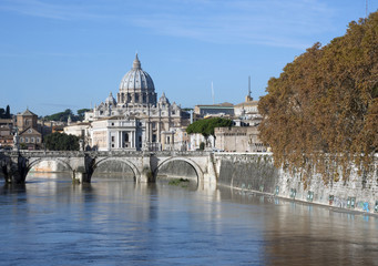 Vatican city view over river Tevere