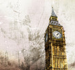 canvas print picture - London - Big Ben - Altes Retro Foto