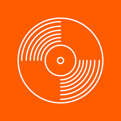Vector vinyl record icon