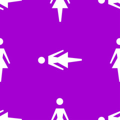 woman restroom web icon. flat design. Seamless pattern.