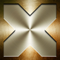 x pattern of metal background