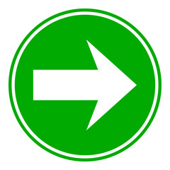 Arrow sign button