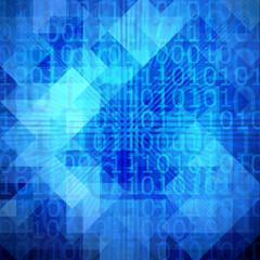 Abstract binary code pattern