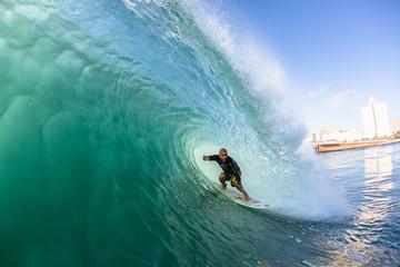 Surfing Surfer Inside Wave