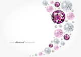 Abstract background with diamonds and pearls - 73731324