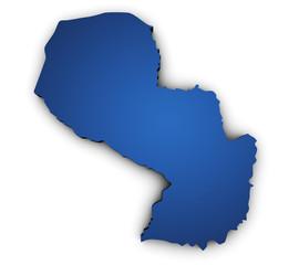 Map Of Paraguay 3d Shape
