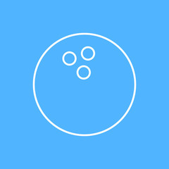 Vector bowling ball icon. Eps10