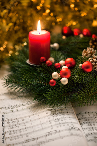Leinwanddruck Bild Adventssingen
