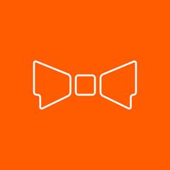 Vector bow-tie icon. Eps10