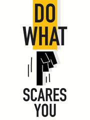 Word DO WHAT SCARES YOU