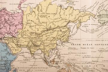 古い世界地図 アジア