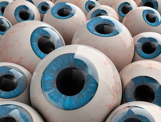 3d render eyeballs