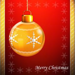 Weihnachtskugel auf weihnachtlichen Hintergrund