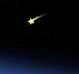 Sternschnuppe im Nachthimmel