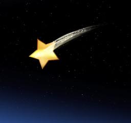Sternschnuppe im Himmel