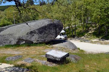 Reisemobil an den Pedras Bolideiras