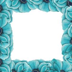 blue anemone pattern