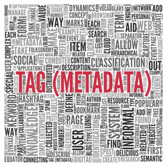Simple Tag Metadata Concept in Word Tag Cloud