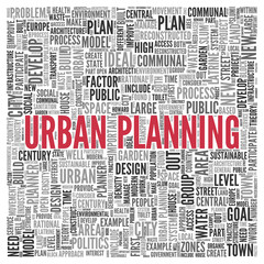 URBAN PLANNING Concept in Word Tag Cloud Design