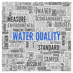 WATER QUALITY Concept in Word Tag Cloud Design