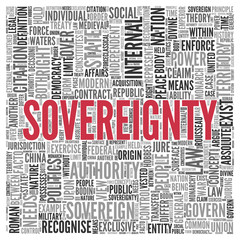 SOVEREIGNTY Concept in Word Tag Cloud Design