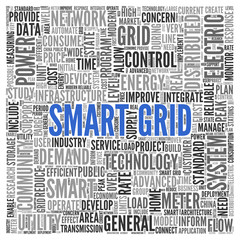 SMART GRID Concept in Word Tag Cloud Design
