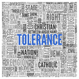TOLERANCE Concept in Word Tag Cloud Design poster