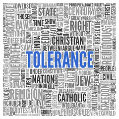 TOLERANCE Concept in Word Tag Cloud Design
