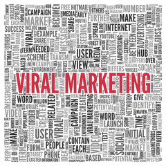 VIRAL MARKETING Concept in Word Tag Cloud Design