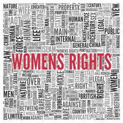 WOMENS RIGHTS Concept in Word Tag Cloud Design