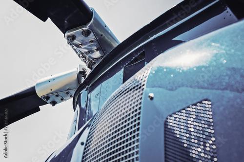 Leinwanddruck Bild Hubschrauber Rotor