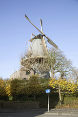 windmill Windhond in the dutch town of Woerden