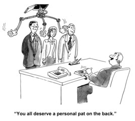 """You all deserve a personal pat on the back."""