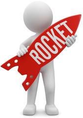 3d Männchen rocket