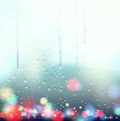 drops on the window