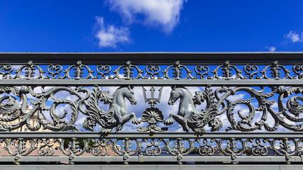 Annunciation bridge in St. Petersburg, Russia