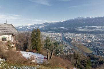 Innsbruck - Veduta panoramica Alpi