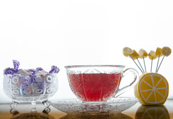 Tea with candies
