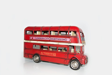 London sightseeing bus in studio (wallpaper, background)